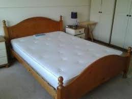 Solid Pine Double Bed Frame Complete with Silentnight Orthopaedic Mattress