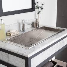 trough  rectangular copper bathroom sink  native trails