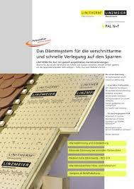 """Zertifiziert und im """"bauverzeichnis gesündere gebäude gelistet: Linzmeier Aufsparrendaemmung Pal N F"""