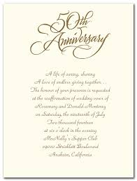 sle invitation letter for 50th wedding anniversary