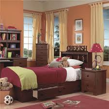 Lang Bedroom Furniture Lang Shaker Queen Bookcase Bed With Under Bed Drawer Storage And