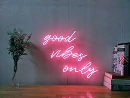good vibes only neon sign new art handmade visual artwork wall signs for home decor writing
