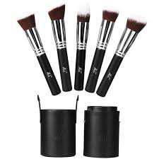 ilulu premium synthetic professional cosmetic brushes 5 pieces kabuki makeup brushes set