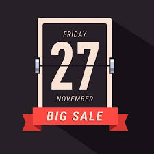 Black Friday Sale Banner Flipping Calendar Page Vector