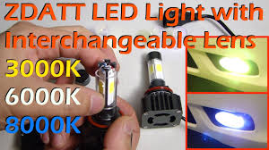 <b>ZDATT</b> Multi Color Lens LED <b>Light</b> Full Review - YouTube