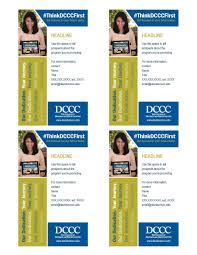 marketing toolbox davidson county community college interactive 3x5 rack card 3x5 card template