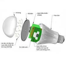Đèn Led sạc tích điện dạng Bóng Bulb Pin 18650 Chọn Công suất 40/60/100W mã  1 08
