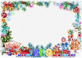 2019 happy new year photo frame template