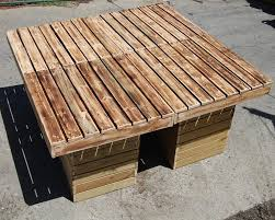 repurposed pallet outdoor table