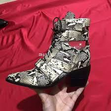 watersnake embossed leather womens ankle boots breathable knight motorcycle boots navy blue black white gladiator sandals dress party shoes shoes