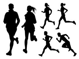 走るシルエット イラストの無料ダウンロードサイトシルエットac