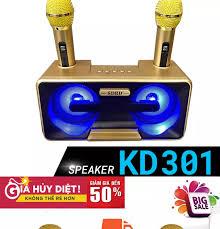XẢ KHO CÁC LOẠI LOA ] Loa Karaoke Hàng Nhật Mini Micro Kèm LoaMic Hát Cầm  Tay - Loa Bluetooth Karaoke SDRD SD-301 Kèm 2 Mic Không Dây Loa karaoke xách