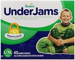 Underjams Size Chart Pampers Underjams Absorbent Nightwear Size 8 Big Pack Boy 40 Count