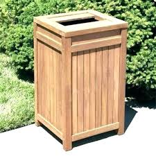outdoor trash can storage garbage outside bin shed plans cozy design exterior cans container plastic out