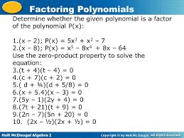 determine whether the given polynomial is a factor of the polynomial p x