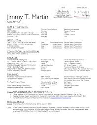 Unusual Background Actor Resume Format Photos Resume Ideas