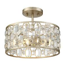 mignault round crystal gold flushmount wayfair com trough brass chandelier flushmount