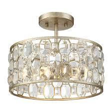 mignault round crystal gold flushmount wayfair com trough brass chandelier flushmount