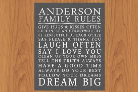 personalized family rules wall art sign subway house rules inside family rules wall art gallery on house rules wooden wall art with photo gallery of family rules wall art viewing 3 of 17 photos