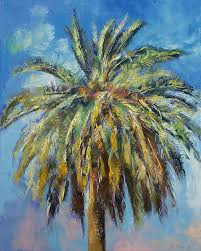 canary island painting canary island date palm by michael creese