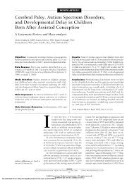 pdf cerebral palsy autism spectrum disorders and developmental delay in children born after isted conception