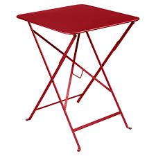 fermob bistro folding table 57 x 57 poppy