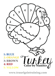 number coloring page sheets for preschoolers color by pages thanksgiving free printable toddlers pdf