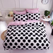 beautiful black white and pink polka dot bedding 17 for your fl duvet covers with black
