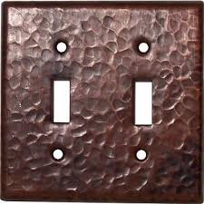 double toggle hammered copper switch plate cover copper light switch plates87