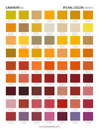 Ral Chart Collections Colorpop Ral Color Charts Lava Heat Italia