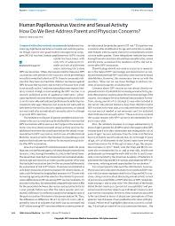 hpv vaccine and sexual activity adolescent medicine jama  first page pdf preview