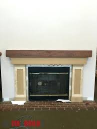 build fireplace mantel surround over brick diy plans making progress
