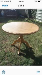 round dining table oak veneer top solid wood base