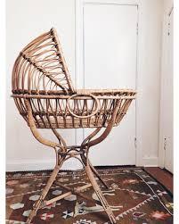 Bargains on Antique Bentwood Rattan Wicker Baby Bassinet Cradle ...