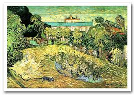 art classic print van gogh the garden of daubigny prints posters