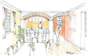 Sketchbook Pro Interior Design Artstation Preliminary Perspective For The Interior Design