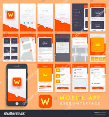 Material Design Stock Images Search Mobile Apps Material Design Ui Stock Vector Royalty