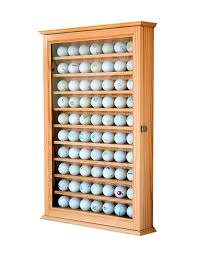 70 golf ball cabinet oak