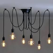spider lampe 6 heads vintage industrial edison ceiling lamp chandelier pendant light fixture spiderman philips 3d