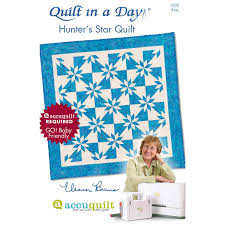 Quilt in a Day Hunter's Star by Eleanor Burns | AccuQuilt.com & ... Quilt in a Day Hunter's Star Quilts Pattern Booklet by Eleanor Burns  (PQ1503 Adamdwight.com
