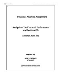 vodafone financial analysis university business and  financial analysis of amazon com 08