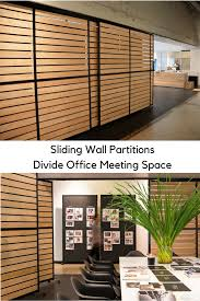 office space partitions. Office Dividers Sliding Wall Partitions To Divide Space Design With Horizontal Wood Planks Could
