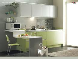 Corner Kitchen Simplicity Is The Best Rule For Small Corner Kitchen Idea In Green