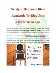 nerdyturtlez com offers academic writing jobs online in  after hiring talented writers from ukraine and nerdyturtlez com is now offering academic writing jobs online in