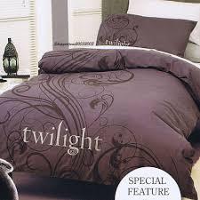 twilight new moon grey metallic print twin bed quilt