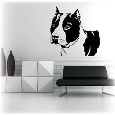 Wall Art Sticker Walls Tattoo Stafford Bull Terrier Dog Pitbull Dog