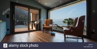 Innen Eine Moderne Luxus Villa Niemand Stockfoto Bild 140642458