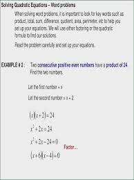 worksheets 46 best solving quadratic equations by factoring