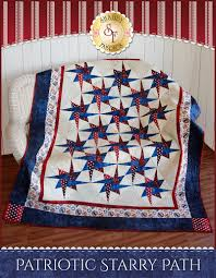 Patriotic Starry Path Quilt Kit   Keepsakes, Fabrics and Patterns & Patriotic Starry Path Quilt Kit - QoVF: Decorate your home with this  striking quilt, Adamdwight.com
