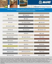 Floor And Decor Grout Color Chart Cocoa And Avalanche It Is Mapei Sanded Powder Grout Chart